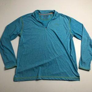 Orvis Trout Bum Light Quarter Zip Sweater Large